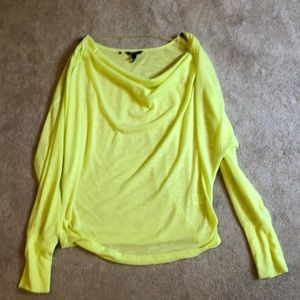Tops - Neon yellow long sleeve top